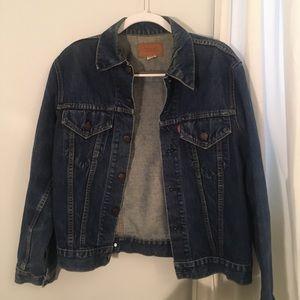 Vintage Levi's Dark Wash Denim Jean Jacket Size M